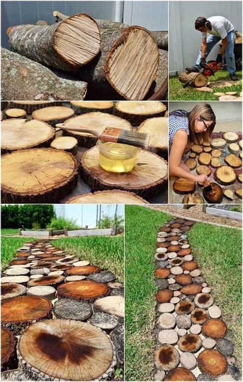 diy tree log ideas   garden