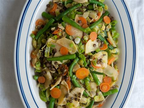 five vegetable stir fry with lentils recipe quick from