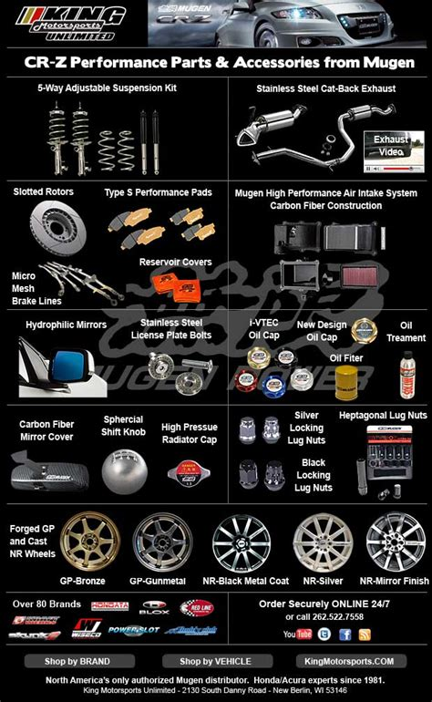 mugen cr  performance parts