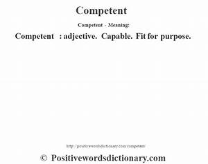 Competent defin... Competent Definition