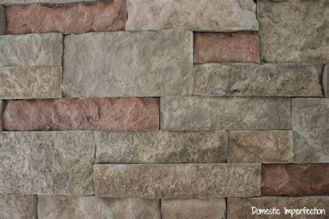 diy faux stone wall aka     domestic