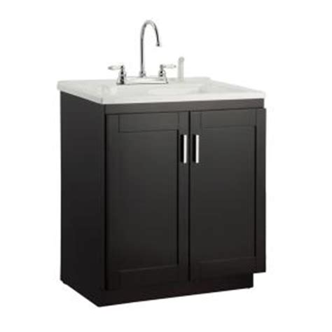 utility sink vanity foremost palmero 30 in laundry vanity in espresso and