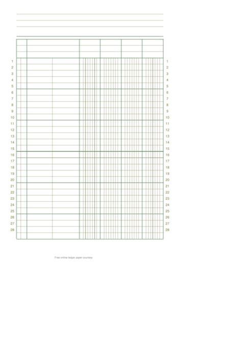 column  rows portrait ledger paper printable