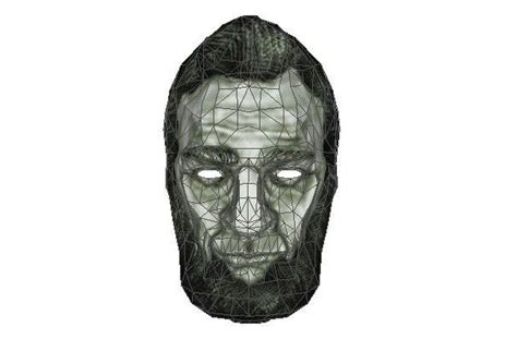 Abe Lincoln Mask Papercraft Free Template