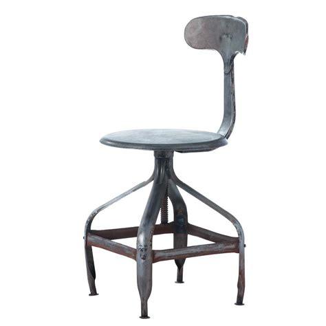 chaise en métal chaise indus en métal effet vieilli télégraphe maisons
