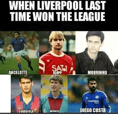 The League Memes - when liverpool last time won the league ancelotti mourinho klopp yokohama diego costa wenger