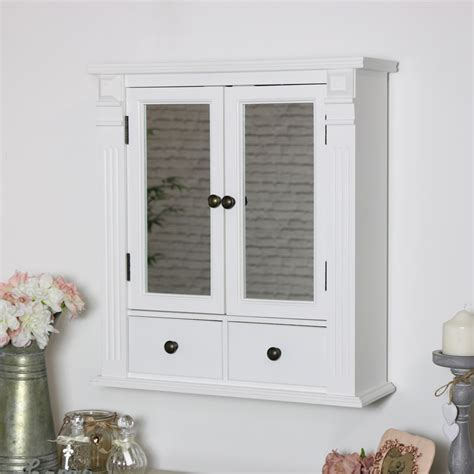 white mirrored bathroom wall cabinet melody maison