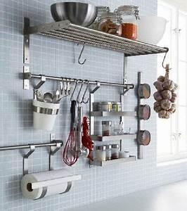Etagere De Rangement Cuisine : rangement cuisine avec barre et tag res ikea ~ Melissatoandfro.com Idées de Décoration
