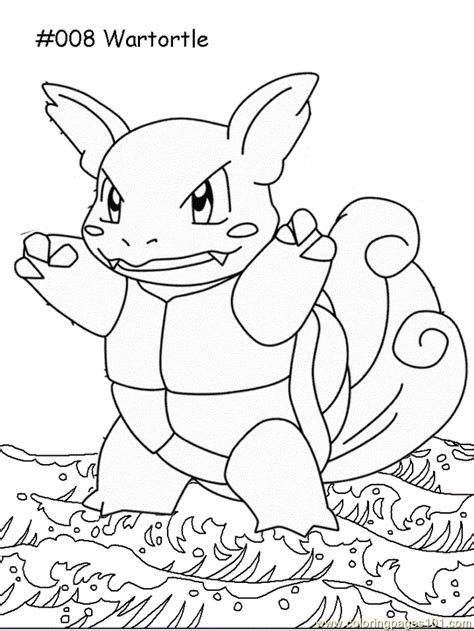 wartortle coloring page  pokemon coloring pages
