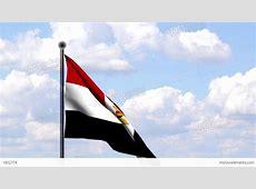 Animated Flag Of Egypt Ägypten Stock Animation 1852774