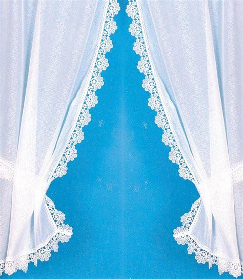 rideau bonne femme pour cuisine rideau bonne femme avec bordure macramé brillant blanc