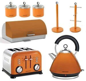 kitchen accessories uk morphy richards 8pc kitchen set kettle toaster in orange 6665