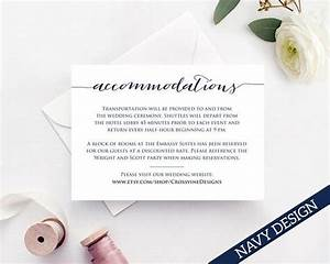 Accommodation Card Template Instantly Download Edit And