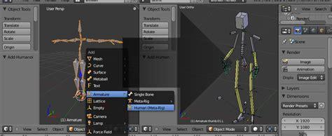 Building Template Blender by Human Rigging Tutorial With Blender 2 5 Blendernation