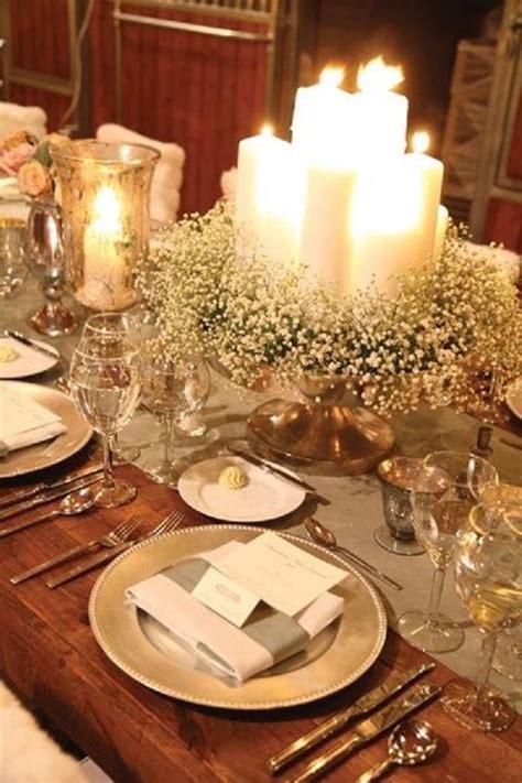 winter table settings wedding deer and flower on pinterest
