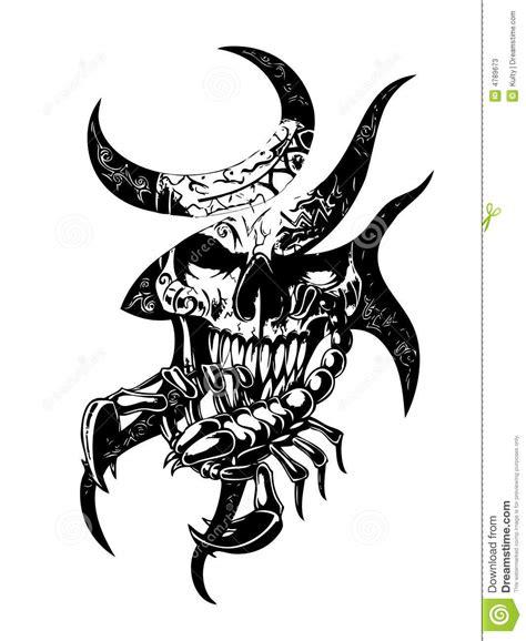 scorpion web design skull scorpion stock vector illustration of artificial
