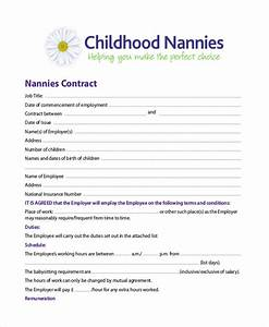 nanny agreement contract general nanny contract sample With nanny contract template word