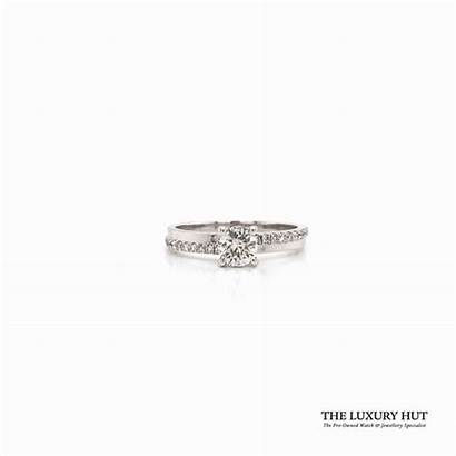 Gold Engagement Ring Diamond 18ct Luxury Rings