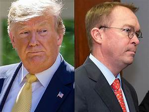 Germophobe Trump boots Mick Mulvaney for coughing over his answer about 'fantastic' tax returns ...