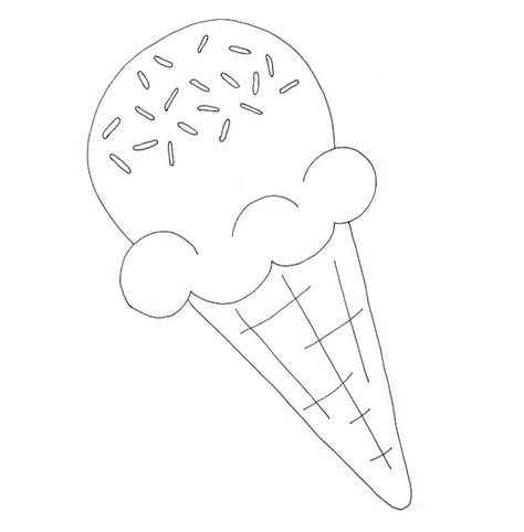ice cream cone coloring page wee folk art