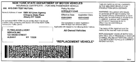 The auto insurance market in new york city is undoubtedly one of the greatest in the whole usa. New York DMV | Sample NY State Insurance ID Cards