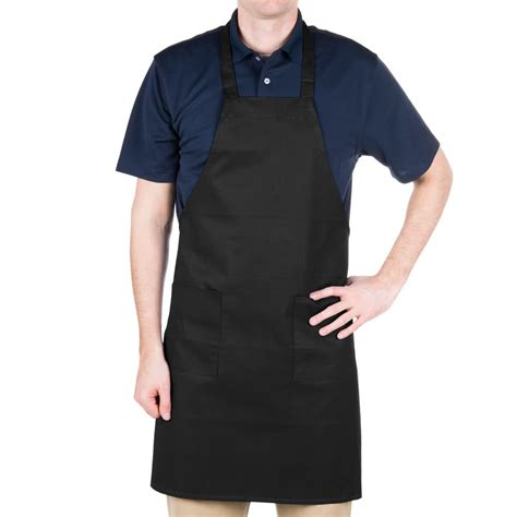 aprons for black apron choice full length black bib apron with pockets 34 quot l x 28 1 2 quot w
