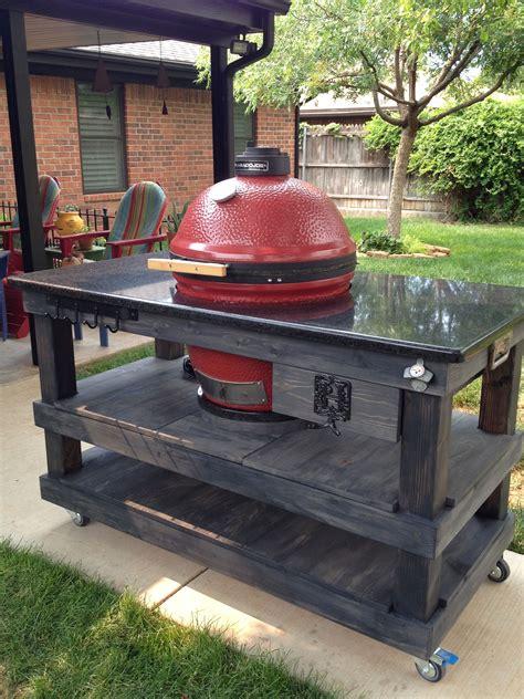 kamado grill plans my custom built kamado joe island kamado joe creations