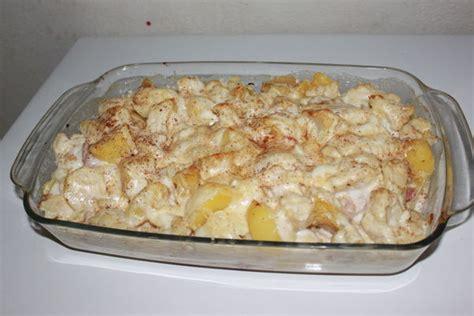 gratin de chou fleur pommes de terre lardons et jambon cru