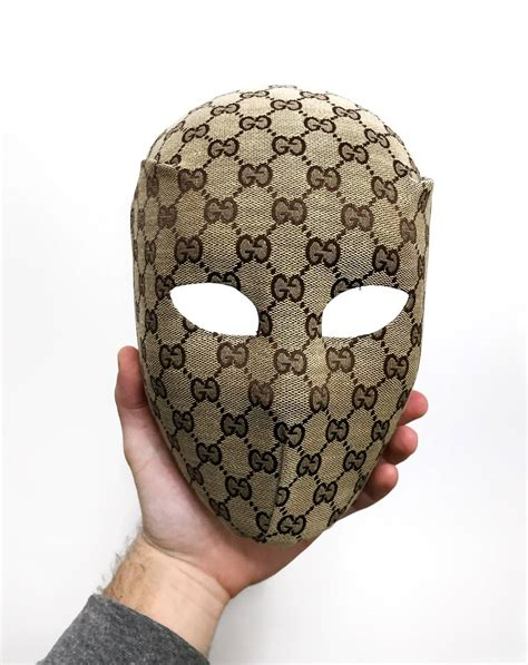 gucci gucci face mask custom   vintage monogram bag grailed