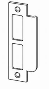 Standard strike for l9000 series satin chrome finish 10 for Schlage l series template
