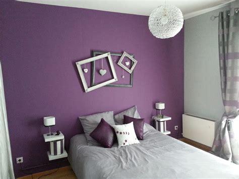 chambre et gris décoration chambre mauve et gris