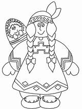 Coloring Native Children American Pages Popular sketch template