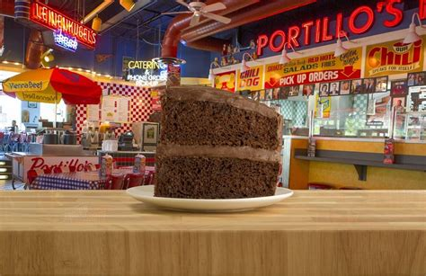cent chocolate cake day  portillos