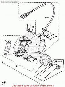 Yamaha Yz125 Competition 1978 Usa Generator Yz125e  F