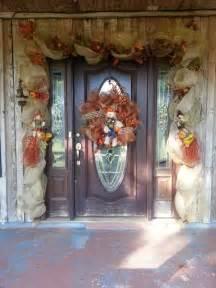 Fall Deco Mesh Door Garland