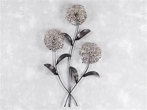 Wanddeko Metall Modern : wand deko blumenzweig pusteblume aus metall h he 71cm silber altsilber wandbilder wanddeko ~ Frokenaadalensverden.com Haus und Dekorationen