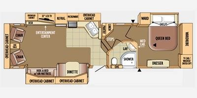 2010 Jayco 5th Wheel Floor Plans by 2010 Jayco Eagle Fifth Wheel Series M 351 Rlsa Specs And