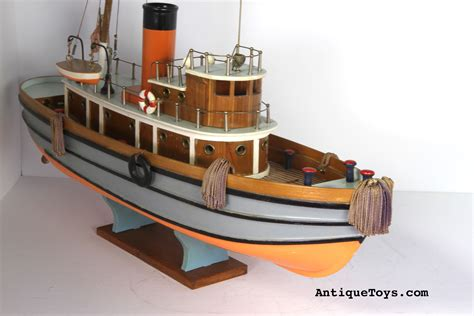 japanese wooden tug boat toy antique toys  sale