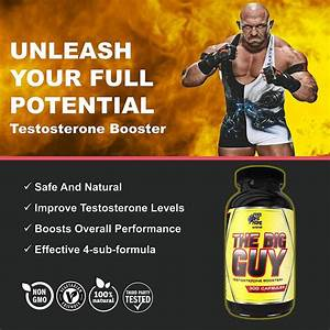The Big Guy Bodybuilding Testosterone Booster For Men