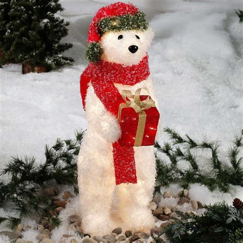 cozy ice christmas decorations  outdoors