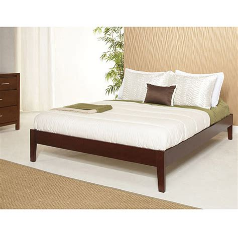 platform bed walmart newport simple platform bed cordovan walmart