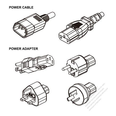 pc adapter power cord set us europe uk australia c13