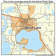 Aerial Photography Map of Detroit Lakes, MN Minnesota