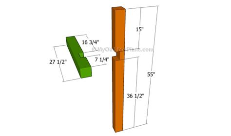 mailbox post plans myoutdoorplans  woodworking