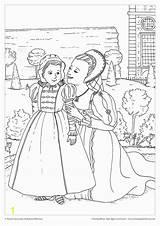 Coloring Queen Elizabeth Scene Anne Queens Kings Printable Between Based Tudor Boleyn Colouring Divyajanani History King Film sketch template