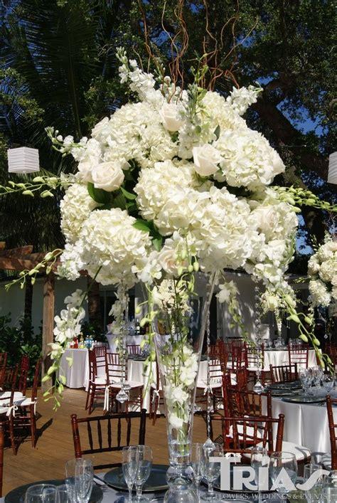 tall hydrangea centerpieces  weddings tall