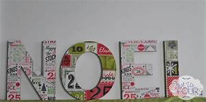 easy mod podge christmas decoration my suburban kitchen With noel letters christmas decoration