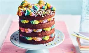 chocolate rainbow layer cake recipe dr oetker