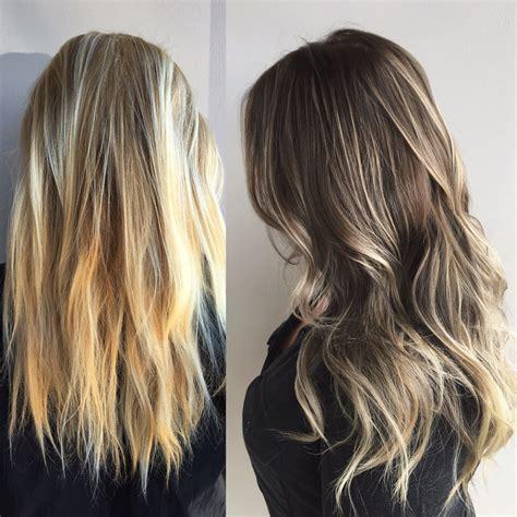 blonde hair  brown hair blonde