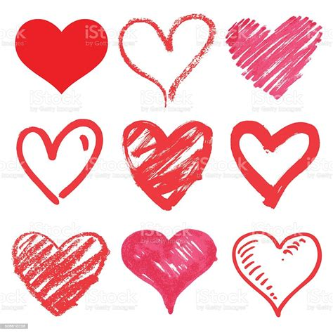 Freesvg.org offers free vector images in svg format with creative commons 0 license (public domain). Set Of Vector Hearts stock vector art 506610238   iStock